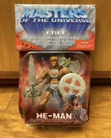 Masters Of The Universe MOTU He-Man Action Figure 2001 New Mattel / VHS