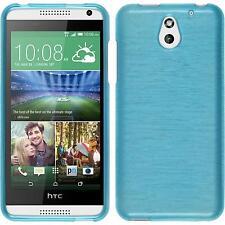 Coque en Silicone HTC Desire 610 - brushed bleu + films de protection