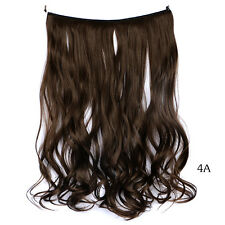 """Women's 18"""" Real Curly Wire Headband One Piece Clip In Hair Extension Synthetic"""