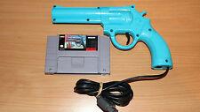 Lethal Enforcers (Super Nintendo SNES, 1994) W/Blue justifier Gun
