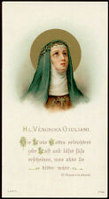 antico santino cromo-holy card S.VERONICA GIULIANI
