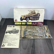 Vintage ESCI German Half Track sd.kfz. 250/3 1/72 Scale kit 8027 RARE 1975