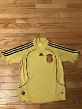 Team Spain Adidas Clinacool Alt Gold Youth Soccer Jersey Size XS
