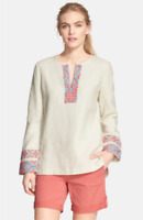 * NWT Tory Burch McKenna Tunic Top Ivory Linen $350 – Size 6