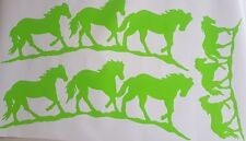 3x Horse  Stickers  DECALS  HORSE FLOAT trailer or  TRUCK