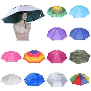 Head Umbrella Hat Sun-rain Hat Anti-Sun Portable Adjustable Outdoor Fishing Hat