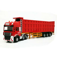 Simulated 1:50 Engineering Truck Model Semi-trailer Dump Truck Toy For Kids Gift