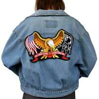 Eagle Iron On Patch Embroidered Applique Sewing Label punk biker cloth Patches