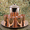 1mm Thickest Solid Copper Moscow Mule Pitcher Jug Cup Glasses Tray Serving Set
