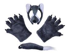 Wolf Set Mask Tail Paws Werewolf Disguise Wolf Man Animal Halloween Fancy Dress