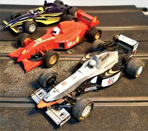 3 Scalextric F1 / Indy Race Cars (All Runners)