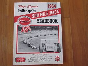 1954 Indy 500 Indianapolis race yearbook F. Clymers annual pub Vukovich win Offy