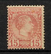 (YYAN 064) Monaco 1885 MLH Prince Charles III Mich 5 Scott 5