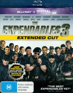 The Expendables 3 - Extended - Stallone, Statham, Schwarzenegger - Mint Blu-ray