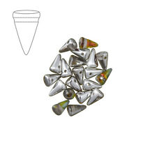Czech glass baby spikes 8mm cristal volcano perles pack de 20 (M43/4)