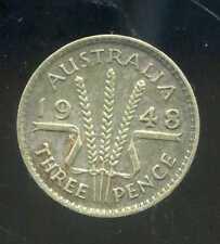 AUSTRALIE  3  three pence  1948  ARGENT