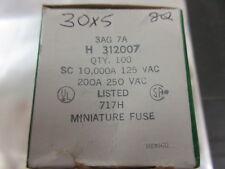7A Slow blow glass fuse, Littlefuse, 30x6mm 3AG 30mm x 6mm **5 PER SALE** UK