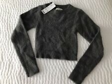 Urban Outfitters Gray-Green Faux Angora Crop Sweater Size Xs