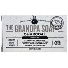 Grandpa's, Face & Body Bar Soap, Detoxify, Charcoal, 4.25 oz For Congested Pores