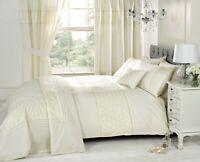 "Rapport ""Everdean"" Embroidered Floral Duvet Cover Bedding Set Cream"
