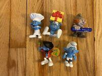 McDonalds 2011 Smurfs Happy Meal Toys Peyo - Lot of 5 Jokey Painter Smurf