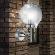 Garten Haus Wand Garage Leuchte DxH 78x360 mm weiß Edelstahl Einfahrt IP44 1xE27