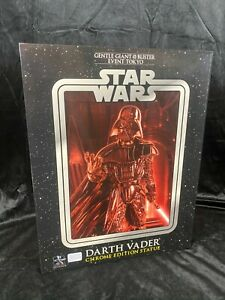 """GENTLE GIANT STAR WARS """"DARTH VADER"""" 1:4 SCALE CHROME EDITION STATUE FIGURE BUST"""