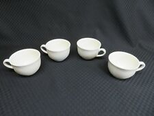 Set of 4 Villeroy & Boch All White CORTINA 2000 Embossed Flat Cups, Luxembourg
