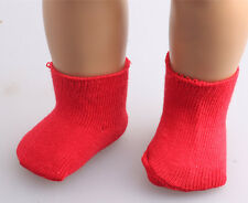 best gift model nice red socks for 18inch American girl doll b501