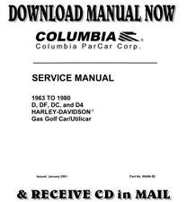 Best - Harley Davidson / Columbia Gas golf cart service manual 1963 - 1980 on Cd