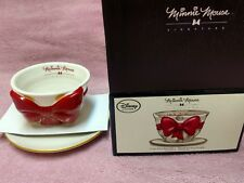 DISNEY STORE MINNIE MOUSE SIGNATURE SERIES BOW CUP AND SAUCER