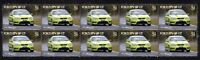 FORD FPV FALCON BF GT STRIP OF 10 MINT VIGNETTE STAMPS, GREEN