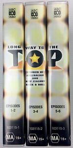 Oz Music Documentary long Way To The Top 3-vhs Video Cassette Tape Box Set