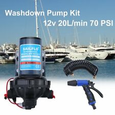 Washdown Pump Kit 12V 20L/MIN 70PSI High Pressure Wash-Down Deck Caravan Boat