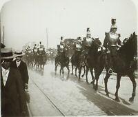 FRANCE Paris Garde Nationale Chevaux Cavaliers Photo Stereo Plaque Verre ca 1910