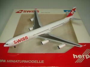 """Herpa Wings 500 Swiss A340-300 """"2010s color - Aarau"""" 1:500 NG"""
