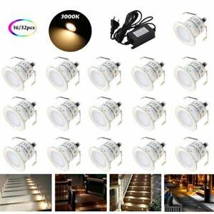 16x 32x LED Boden Lampe Leuchte Bodeneinbaustrahler Bodeneinbauleuchte Spots Set