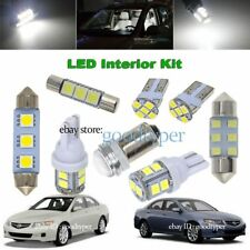 10x White LED Map Dome Light interior Bulb package kit fit 2004-2008 Acura TSX