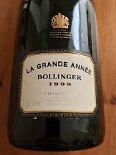 More details for bollinger 1999 champagne la grande anée, empty bottle for decoration/photography
