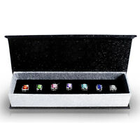 GENUINE CRYSTALS BY SWAROVSKI 7 Days Earring Set 18KWGP Krystal Couture KCS001AZ