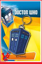 DR WHO Porte Clefs TARDIS Caoutchouc Doctor Docteur  # NEUF #