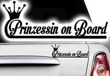 1x Aufkleber Princess WUNSCHNAME ON BOARD Prinzessin Hangover Baby Kind fährt mi