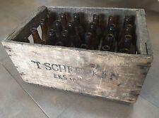 Alte Holzkiste, Getränkekiste, 'T Scheepken Pils Bierkasten mit 24 Bierflaschen