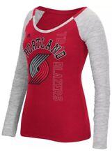adidas NBA Portland Trail Women's Team Liquid Dots Long Sleeve Slub Tee - L A3