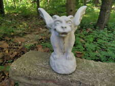 "Fantastic 6"" Small Gargoyle Cement Garden Art Concrete Statue Fierce Looking"