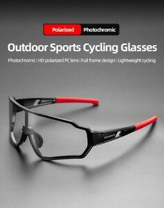 ROCKBROS Polarized Photochromic Cycling Bike Sunglasses Outdoor Sports MTB