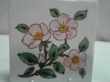 """Franciscan china Desert Rose U.S.A. stamp Tea Tile 6"""" Hot Plate"""