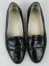 Giorgio Brutini Handcrafted Genuine Black Lizard Loafer Shoes Mens Size 9.5 M