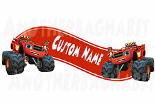 Blaze and the Monster Machine Room Decor -  Wall Decal Removable CUSTOM NAME