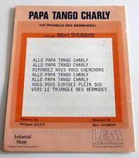 Partition sheet music MORT SHUMAN : Papa Tango Charly * 70's